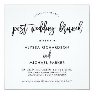 Moderne Posten-Hochzeits-Brunch-Einladung des Karte