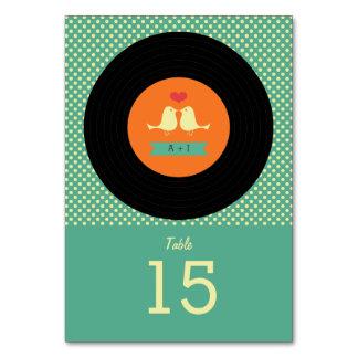Moderne Retro Vinylaufzeichnungs-Hochzeit
