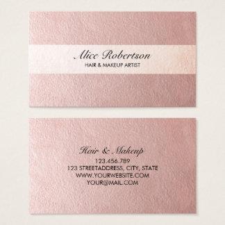 Moderne rosa glänzende Art Visitenkarte