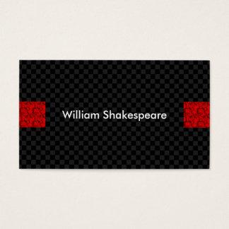 Moderne Rot-Höhepunkte mit Dunkelheit quadriert Visitenkarte
