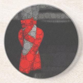 Moderne rote Ballett-Schuhe Sandstein Untersetzer