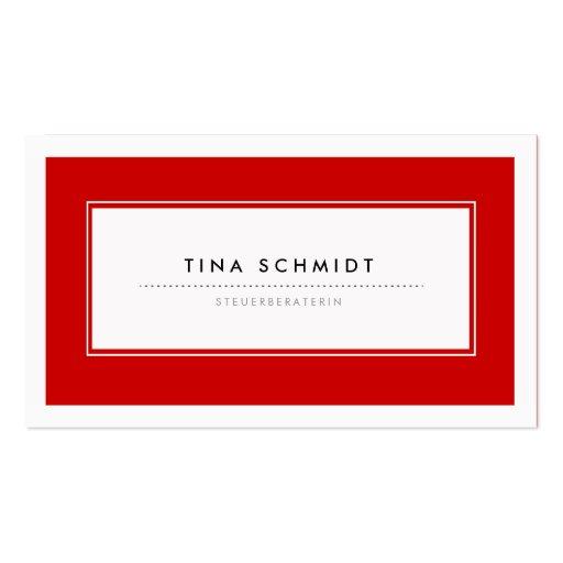 Moderne Rote Visitenkarten Modèle De Carte De Visite
