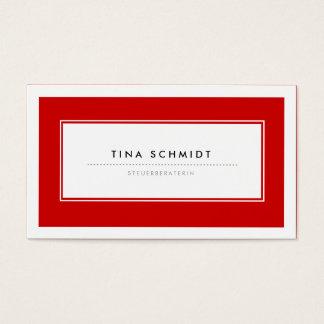 Moderne Rote Visitenkarten Cartes De Visite