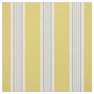Moderne, schicke gelbe und graue Streifen Stoff