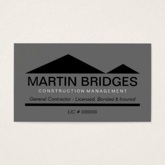 Moderne schwarze allgemeine Baugewerbe-Karten Visitenkarte