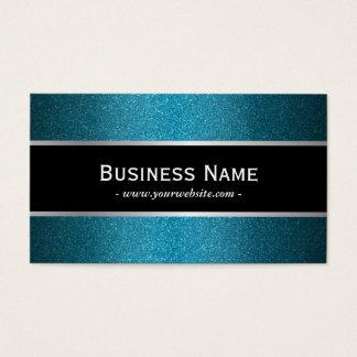 Moderne schwarze Fahnen-aquamarine Visitenkarte