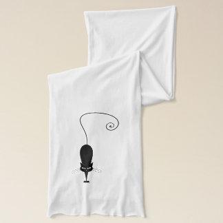 Moderne schwarze Katzen-und Tatzen-Drucke Schal