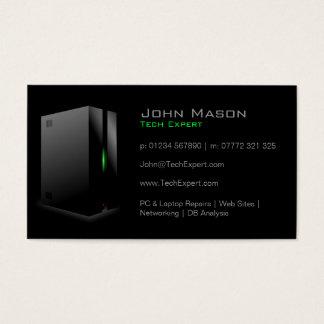 Moderne schwarze Technologie - Visitenkarte