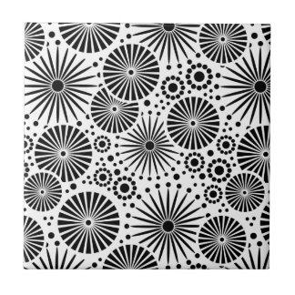 Moderne Schwarzweiss-Fliese Kleine Quadratische Fliese