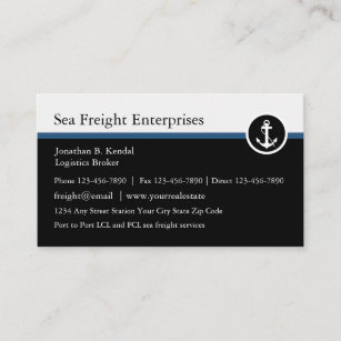 Moderne Seefracht und -logistik Visitenkarte
