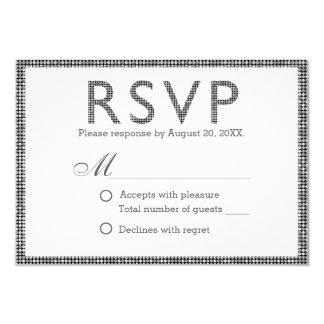 Moderne silberne Sequins, die UAWG Antwort Wedding 8,9 X 12,7 Cm Einladungskarte