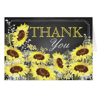 Moderne Sonnenblume-Tafel danken Ihnen Karte