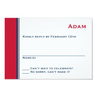 Moderne Stern-Bar Mitzvah Wartekarte 8,9 X 12,7 Cm Einladungskarte