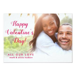 Moderne stilvolle Foto-Karte   Valentines Tages Karte