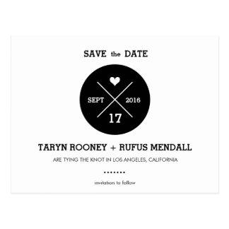 Moderne Streifen-Save the Date Postkarte