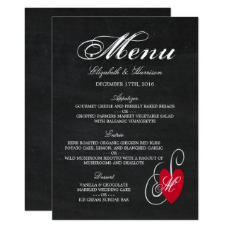 Moderne Tafel-extravagantes Herz-Hochzeits-Menü 11,4 X 15,9 Cm Einladungskarte
