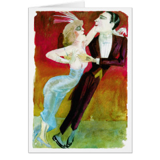 Moderne Tanzen-Paare durch Otto Dix Grußkarte