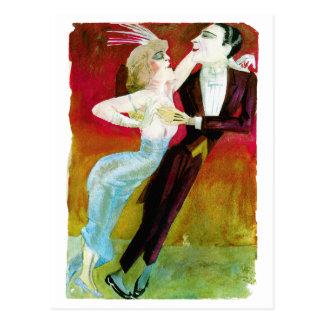 Moderne Tanzen-Paare durch Otto Dix Postkarte