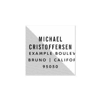 Moderne Typografie-geometrische Rücksendeadresse Gummistempel