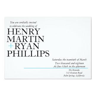 Moderne Typografie-Hochzeits-Einladung Karte