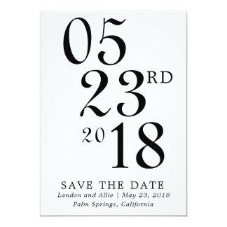 Moderne Typografie Save the Date 12,7 X 17,8 Cm Einladungskarte
