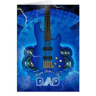 moderne Vatertagskarte mit Gitarre Grußkarte