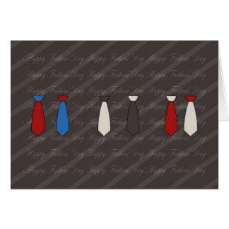 moderne Vatertagskarte mit Krawatten Karte