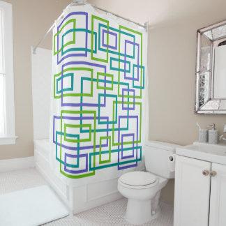 Moderne Verriegelung geometrisch Duschvorhang