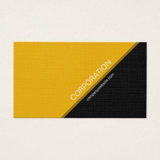 Moderne Visitenkarte des orange winkligen Textes