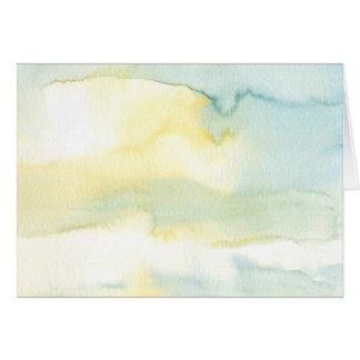 Moderne Wasserfarbe-Malerei-Kunst-Gruß-Karte Karte