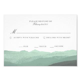 Moderne Watercolor-Berg-UAWG Karte 8,9 X 12,7 Cm Einladungskarte