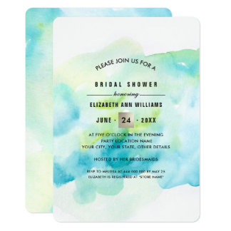 Moderne Watercolor-Brautparty-Einladungen 12,7 X 17,8 Cm Einladungskarte