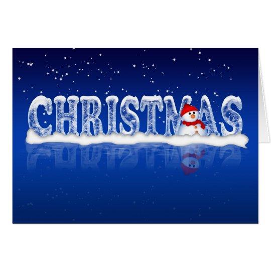 Moderne Weihnachtskarte mit Schneemann Grußkarte