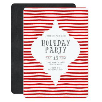 Moderne WeihnachtsParty Einladung