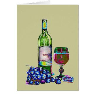Moderne Wein-und Trauben-Kunst Karte