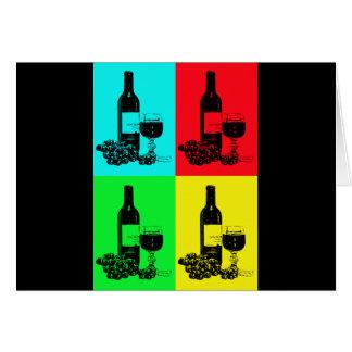 Moderne Wein-und Trauben-Pop-Art Karte