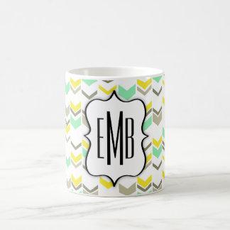 Moderne Zickzack geometrische Kaffeetasse