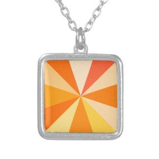 Moderner 60er der Pop-Kunst Funky geometrische Versilberte Kette
