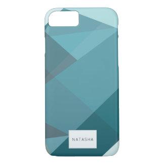 Moderner, abstrakter aquamariner iPhone 7 Fall iPhone 8/7 Hülle