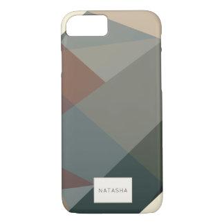 Moderner, abstrakter Brown iPhone 7 Fall iPhone 8/7 Hülle