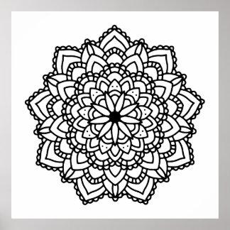 Moderner abstrakter geometrischer schwarzer poster