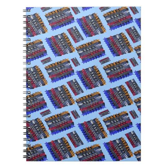 Moderner abstrakter Kunst-Blau-Hintergrund Notizblock