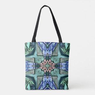 Moderner aquamariner lila Pfirsich-künstlerisches Tasche