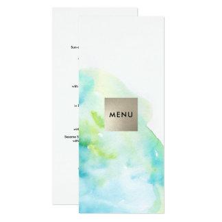 Moderner Aquarell-Entwurfs-kundenspezifische 10,2 X 23,5 Cm Einladungskarte