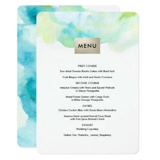 Moderner Aquarell-Entwurfs-kundenspezifische 11,4 X 15,9 Cm Einladungskarte