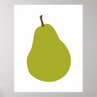 Moderner Birnendruck für Ihre Küche oder Zuhause Poster