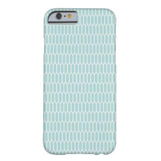 Moderner blauer Hexagon-Telefon-Kasten Barely There iPhone 6 Hülle
