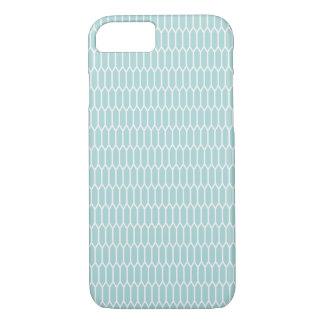 Moderner blauer Hexagon-Telefon-Kasten iPhone 8/7 Hülle