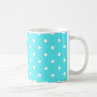 Moderner blauer Schweizer Tupfen Tasse