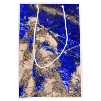 Moderner blauer Stein Mittlere Geschenktüte